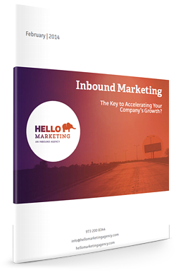 Inbound Marketing white paper mockup
