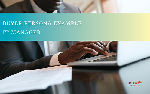 Buyer Persona Example IT Manager